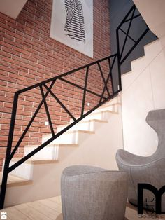 Modern House Stairs Design Best Of Stock Schody Styl Nowoczesny Zdjęcie Od Mart Design Architektura Wnętrz Metal Handrails For Stairs, Modern Stair Railing, Staircase Handrail, Stair Railing Design, Modern Stairs, Railing Ideas, Hand Railing, Iron Handrails, Cable Railing