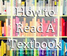 Reading a textbook quickly and effectively is an ability every student needs. Check out these four simple study skills steps to ace textbook reading. College Success, College Hacks, School Hacks, Student Success, College Notes, College Humor, College Survival, Study Skills, Study Habits