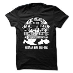 Veterans T-shirt - In memory of the 58 479 brothers and sisters Veteran T Shirts, Vietnam Veterans, Printed Shirts, Brother, Sisters, Menswear, Memories, Mens Tops, Recipes