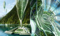 Vincent Callebaut navrhl vzducholodě Hydrogenase – DesignMag.cz Alvar Aalto, Architect Design, Line Design, Artsy, Architects, Building Homes, Architecture