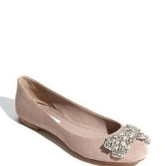 I don't love flats, but I like the sparkly bow!