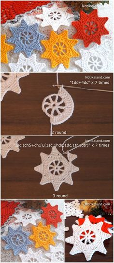 Crochet Easy Christmas Star Ornament In this tutorial I'm going to show you how to crochet an easy star ornament for Christmas decoration. This is a great pattern for beginners, because it works super fast and uses some basic crochet techniques. Crochet Ornament Patterns, Crochet Ornaments, Christmas Crochet Patterns, Crochet Christmas, Easy Christmas Ornaments, Christmas Star, Simple Christmas, Christmas Crafts, Crochet Patterns For Beginners