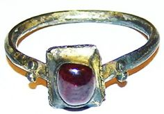 Superb Frankish Carolingian silver gilt finger ring, dating to the 7th - 8th century AD. SOLD: www.ancient-jewellery.com