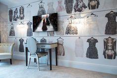 déco chambre ado papier peint sur le thème mode