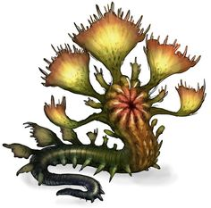 View an image titled 'Plantsnake Monster Art' in our Guild Wars Nightfall art gallery featuring official character designs, concept art, and promo pictures. Forest Creatures, Alien Creatures, Wild Creatures, Fantasy Creatures, Mythical Creatures, Alien Concept Art, Creature Concept Art, Creature Design, Fantasy Monster
