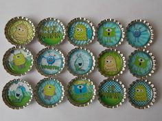 Lil' Monster magnet's party favor's 8 by BoutiqueChicGallery, $10.00