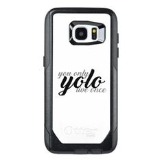 Yolo You Only Live Once Typography OtterBox Samsung Galaxy S7 Edge Case - script gifts template templates diy customize personalize special