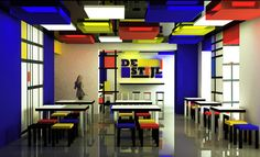 De Stijl Interior Design | DE STIJL / cafe on Behance
