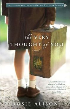 The Very Thought of You-Rosie Alison  A young British girl is sent to live in a country house with other school kids prior to The Blitz, while mom stays in London and dad fights in the war.  Great premise if the writer had stuck with it.  Instead we were dulled with perspective from 8 different people.  Lots of thoughts and remembrances, no action.  I kept wondering when the book would get back to its core...it never did.  Truly disappointing; should be rewritten as a short story.