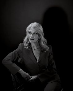Donald Trump's People (3 of 4): The Trump Whisperer.  A former resident of one of Trump's buildings, pollster Kellyanne Conway became his campaign manager in August. She is known for her blunt advice, sometimes through TV appearances.  Read why TIME chose Donald Trump as 2016's Person of the Year on TIME.com.  Photograph by Nadav Kander for TIME  #donaldtrump #trump