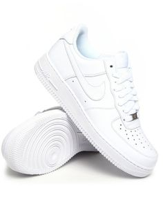 The Air Force One Low by Nike features: Smooth grain leather on panels Tone-on-tone swoosh on outsole and instep Perforated toe box Self tie lace closure with embossed accessory charm Ridged sole for traction Cushioned foot bed PLEASE NOTE NIKE DOES NOT SHIP INTERNATIONALLY.'