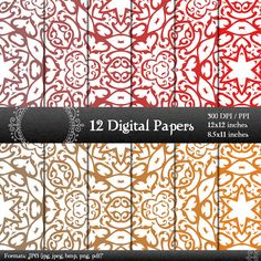 scrapbook papers scrapbook pages digital paper digital scrapbook paper pack scrapbooking digital background scrapbooking paper 12x12 8.5 in
