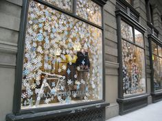 These snowflakes would be a lot of work, but they would look great in the large windows on the front of the hotel.