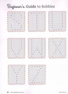 Beginner's Guide to Crochet Bobbles. Crochet Bobbles Alphabet patterns. More Patterns Like This!