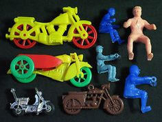 1950's Motorcycles Sidecar Riders #vintage #toys #motorcycles
