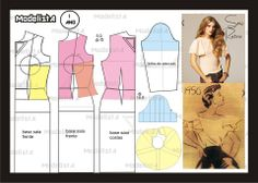 Modelagem de blusa com manga retrô 1950. Fonte: https://www.facebook.com/photo.php?fbid=559589437410299=a.426468314055746.87238.422942631074981=1