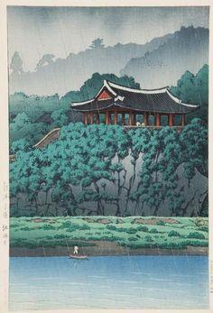 Pyongyang Morandae, Korea(1939) - Kawase Hasui  / 한국 평양, 모란대(1939) - 가와세 하스이