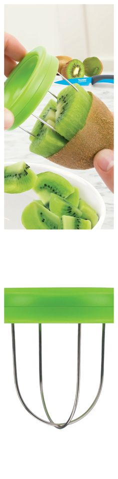Kitchen Gadgets - SO COOL! Kiwi Tool Easily ready your favorite fruit with this kiwi tool boasting stainless steel wires that slide under the peel!