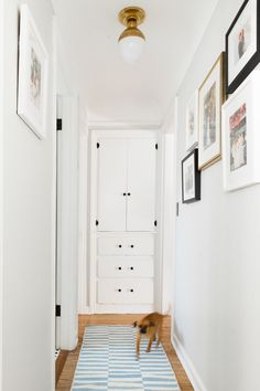 a bare hallway gets some simple updates for a mini-makeover on coco kelley