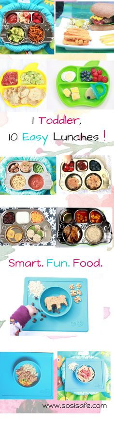 10 Easy Toddler meals. Toddler lunches that can easily