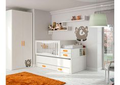 Cuna convertible Conver DUO barandilla curvada Cot Bedding, Baby Love, Kids Room, Toddler Bed, Entryway, Nursery, Table, Furniture, Julien