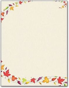 free fall stationery template