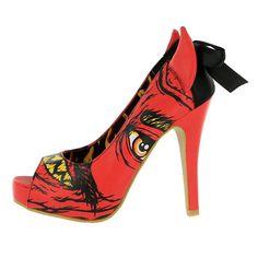 fa19eaebecb5 Iron Fist Soul Stealer Peep Toe Platform Heels - Red  IronFist  PlatformsWedges  Platform High