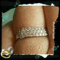Diamond Wedding Band Diamond Wedding Band   18K White gold diamond wedding band. 3 rows of diamonds, 36 in all. Not sure what the total cart in diamonds this ring holds. My sister's wedding band from previous marriage. Jewelry