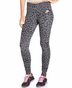 nike cheetah print running pants | Nike Pants, Leg-A-See Animal-Print Active Leggings
