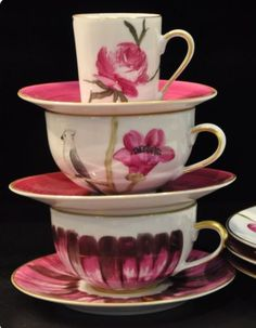 Chocolate Cups, Teacups, Cup And Saucer, Dinnerware, Coffee Cups, Collections, Pottery, Ceramics, Snacks