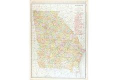 Georgia Map, 1906 on OneKingsLane.com