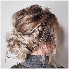 Incredible messy updo hairstyles,crown braid hairstyle to try ,boho hairstyle,easy hairstyle Updos For Medium Length Hair, Mid Length Hair, Medium Hair Styles, Short Hair Styles, Medium Hair Updo, Braided Hairstyles For Wedding, Fancy Hairstyles, Hairstyle Ideas, Braid Hairstyles