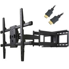 """VideoSecu Articulating TV Wall Mount for Most 37~55in Sony Samsung LG Panasonic Vizio Sharp LCD LED PLASMA **FREE HDMI Cable** 1KM by VideoSecu. $79.99. The VideoSecu MW380B is a full-motion wall mount for 37""""-55"""" TVs up to 165 lbs. This articulating mount supports TV with mounting hole patterns up to 24"""" horizontally, and 16"""" vertically (VESA 600X400mm). The adjustable tilt controller helps to reduce glare and find the perfect angle. Full motion design allows maximu..."""