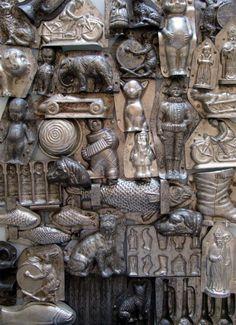 antique chocolate molds