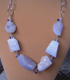 Chunky, Funky, Blue Lace Agate Druzies