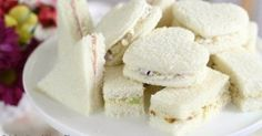 TEA PARTY TEA SANDWICHES ~ 3 FILLING RECIPES: Chicken Salad, Pineapple-Pecan-Cream Cheese  Apricot-Ham-Cream Cheese