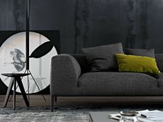 Fabric sofa with removable cover METROPOLITAN   Fabric sofa - Poliform