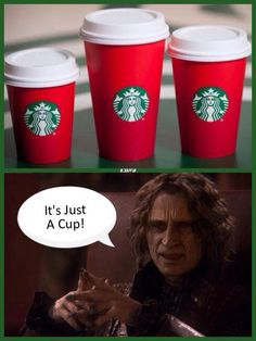 """""""It's just a cup..."""" on the Starbucks Christmas cup controversy."""