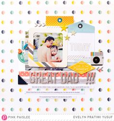 Great Dad by geekgalz at (Pink Paislee Atlas collection) Scrapbook Designs, Scrapbook Sketches, Scrapbooking Layouts, Scrapbook Pages, Mini Albums, Photographs And Memories, Travel Album, Photo Sketch, Scrapbook Paper Crafts