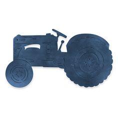 Tractor Blue Wall Art 46x25.5cm