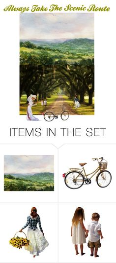 """Always Take The Scenic Route"" by patchworkcrafters ❤ liked on Polyvore featuring art"