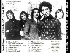 Procol Harum Full Concert with Robin Trower - April 12, 1971 - YouTube