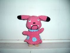 Snubbull Materials Pink, light blue and a small amounts of tan and black yarn White felt G hook and tapestry needle