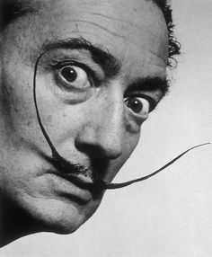 charcoal drawing - portrait Salvador Dali Plus Salvador Dali, Celebrity Photographers, Portrait Photographers, Philippe Halsman, High Museum, Drawing Techniques, Drawing Tips, Light And Shadow, Easy Drawings