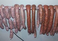 κύρια φωτογραφία συνταγής Λουκάνικα χωριάτικα σπιτικά Diy Food, Sausage, Food And Drink, Meat, Vegetables, Cooking, Recipes, Kitchen, Sausages