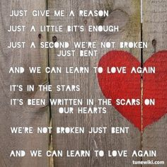 Just Give Me A Reason by P!nk ft. Nate Ruess (from fun.) ////  I can't love this song enough!!