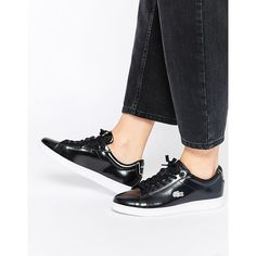 Lacoste Leather Carnaby Black Evo PRV Trainers at ASOS. Vans Brillantes, Lace Up Shoes, Black Shoes, Lacoste Sneakers, Shoes Sneakers, Office Shoes, Trainers, Fashion Shoes, Oxford Shoes