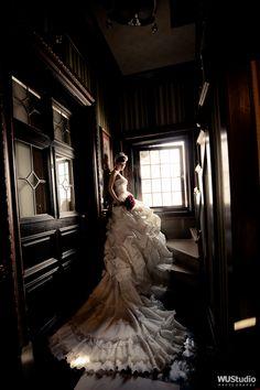 Statement making classic bridal portrait!