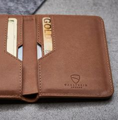 56860496f27c1 Vaultskin CITY Slim Bifold Wallet with RFID Protection for Cards and Cash