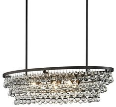"42"" OVAL CRYSTAL PEARS CHANDELIER :: DINING & BEDROOM CHANDELIERS <BR>(20""-34"" DIA.) :: Ceiling lights Toronto, Bath and vanity lighting, Chandelier lighting, Outdoor lighting and kitchen lights :: Union"